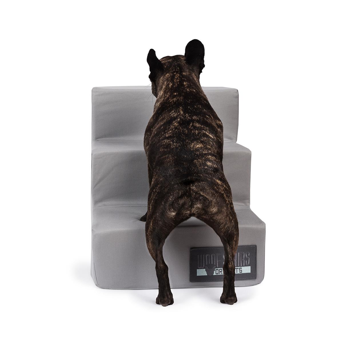 Ora Pets Woof Stairs 3 Steps Grey