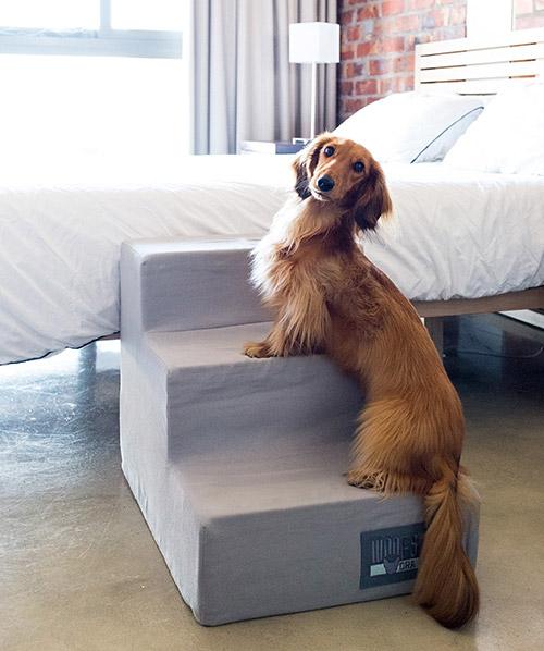 Ora Pets Woof Stairs 3 Step Grey