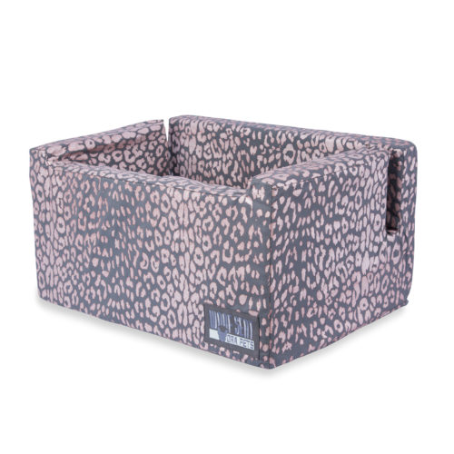Woof Seat Deluxe - Rose Metallic Animal Print