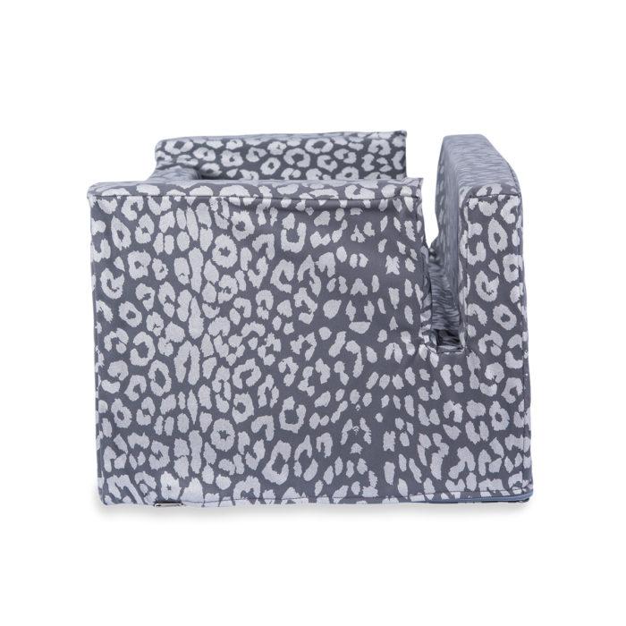 Woof Seat Deluxe - Silver Metallic Animal Print