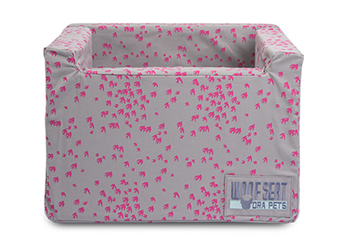 Ora Pets Woof Seat Original Printed Magenta Swallows
